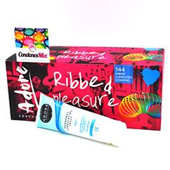 Adore|Pasante Caja de 144 condones estriados más lubricante a tu elección. La mejor relación calidad-precio. C.E, ISO4074 144 Condones estriados + Lubricante