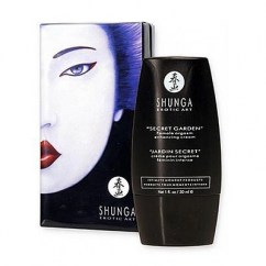 Shunga Crema para aumentar el deseo y placer femenino Shunga. Fabricado con productos naturales que cuidarán tu piel. Jardín secreto Crema