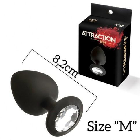 Plug Silicona M con brillo Mai 48 Negro 8,2 cm 0