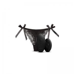Tanga con Estimulador y Control Remoto No. 3 Negro 0