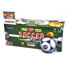Pasante Descubre el nuevo envoltorio con forma de pelota de fútbol y se el titular estrella de la noche. Forma Anatómica para mayor comodidad. Futbol 144 uds