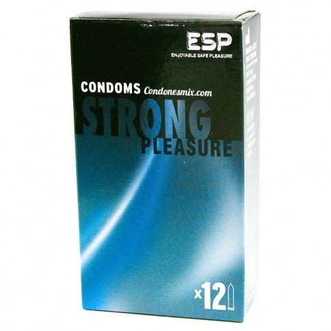 ESP El preservativo más resistente, seguro y grueso de ESP. Condón con forma recta. Strong 12 Uds