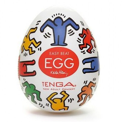 Tenga Huevo masturbador tenga edición especial diseñada por Keith Haring. Tenga Egg Keith Haring Dance