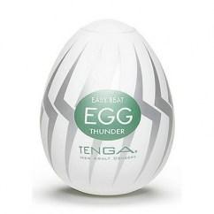 Tenga Huevo masturbador masculino con relieve interior my suave y con forma de trueno. Tenga Egg Thunder