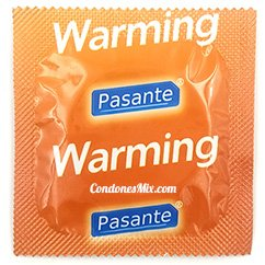 Pasante Condón con efecto calor y texturas estimulantes en forma de estrías. Pleasuremax Calor