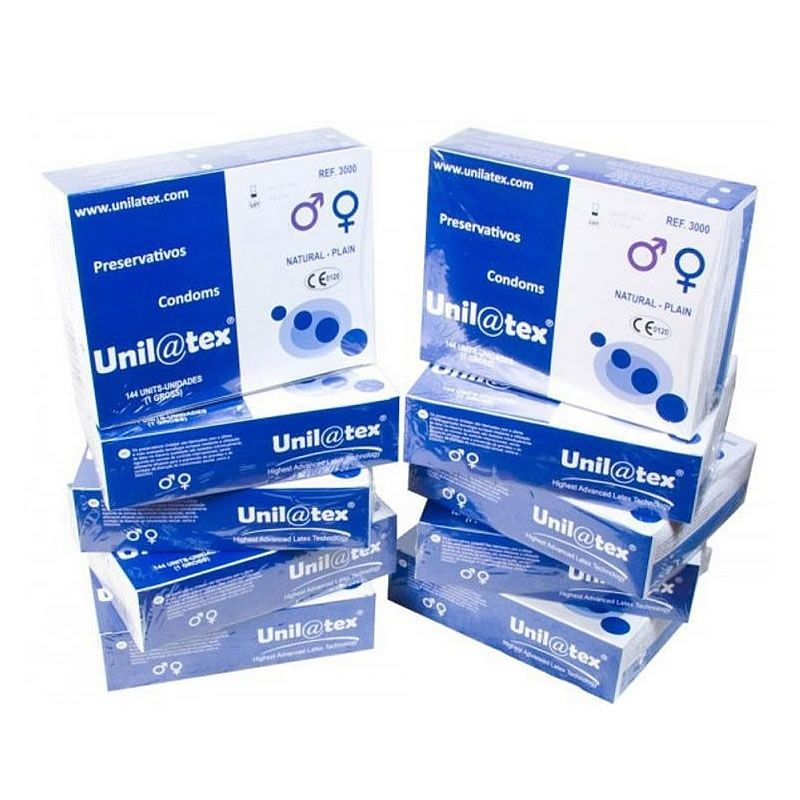 . Unilatex Pack ahorro de 10 cajas de 144 condones unilatex natural 10 Cajas de 144 Unilatex .